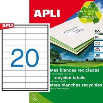 APLI 12063 öntapadós etikett címke