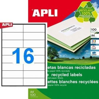 APLI 12065 öntapadós etikett címke
