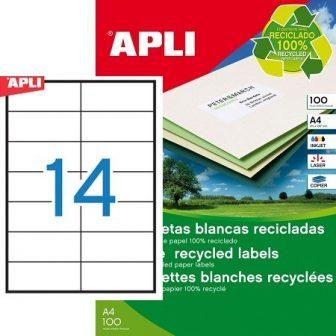 APLI 12066 öntapadós etikett címke