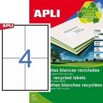 APLI 12068 öntapadós etikett címke