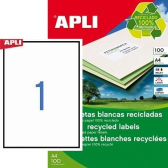 APLI 12070 öntapadós etikett címke