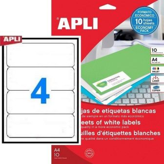 APLI 12920 öntapadós etikett címke