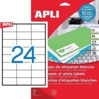 APLI 12923 öntapadós etikett címke