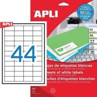 APLI 12925 öntapadós etikett címke