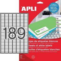 APLI 12927 öntapadós etikett címke