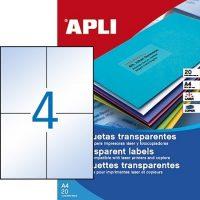 APLI 12963 öntapadós etikett címke