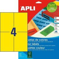 APLI 12991 öntapadós etikett címke
