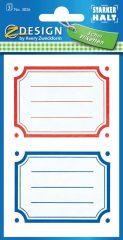 Avery Zweckform Z-Design No. 3026 öntapadó füzet matrica piros, kék, zöld, sárga kerettel.