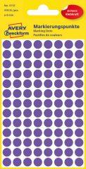 Avery Zweckform 8 mm átmérőjű öntapadó lila színű jelölő címke, jelölő pötty, jelölő pont