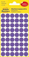 Avery Zweckform 12 mm átmérőjű öntapadó lila színű jelölő címke, jelölő pötty, jelölő pont