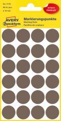Avery Zweckform 18 mm átmérőjű öntapadó barna színű jelölő címke, jelölő pötty, jelölő pont