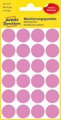 Avery Zweckform 18 mm átmérőjű öntapadó rózsaszín jelölő címke, jelölő pötty, jelölő pont