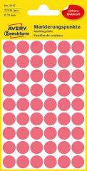 Avery Zweckform 12 mm átmérőjű öntapadó neon piros színű jelölő címke, jelölő pötty, jelölő pont