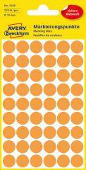 Avery Zweckform 12 mm átmérőjű öntapadó neon narancssárga jelölő címke, jelölő pötty, jelölő pont