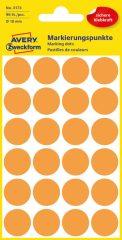 Avery Zweckform 18 mm átmérőjű öntapadó neon narancssárga jelölő címke, jelölő pötty, jelölő pont