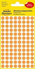 Avery Zweckform 8 mm átmérőjű öntapadó neon narancssárga jelölő címke, jelölő pötty, jelölő pont