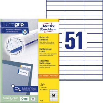 Avery Zweckform 3420 öntapadós etikett címke
