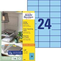 Avery Zweckform 70 x 37 mm méretű, kék színű nyomtatható öntapadós etikett címke