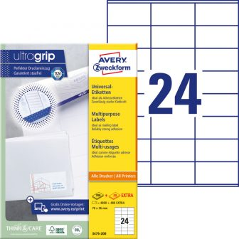 Avery Zweckform 3475-200 öntapadós etikett címke