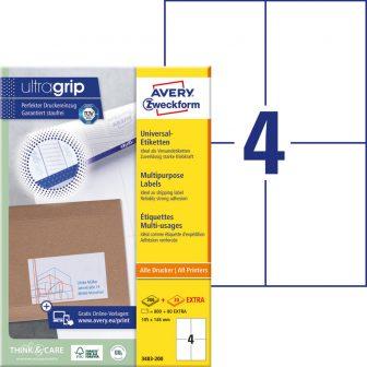 Avery Zweckform 3483-200 öntapadós etikett címke
