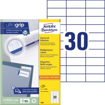 Avery Zweckform 3489 öntapadós etikett címke