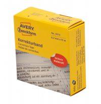 Avery Zweckform No. 3513 tekercses 4,2 mm x 15 méter méretű, kézzel írható fehér öntapadó szalag (Avery 3513)