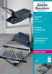 Avery Zweckform No. 3561 extra hőálló írásvetítő fólia színes lézernyomtatóhoz (vastagság: 0,13 mm, méret: A4, 50 ív / csomag)(Avery 3561)