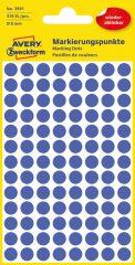 Avery Zweckform 8 mm átmérőjű öntapadó kék színű jelölő címke, jelölő pötty, jelölő pont