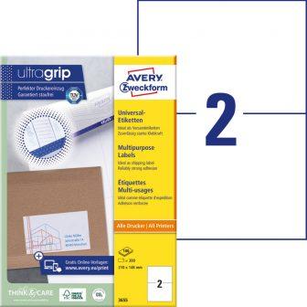 Avery Zweckform 3655 öntapadós etikett címke