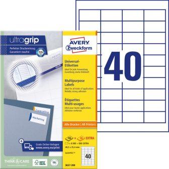 Avery Zweckform 3657-200 öntapadós etikett címke