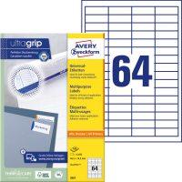 Avery Zweckform 3667 öntapadós etikett címke