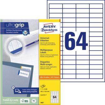 Avery Zweckform 3667 öntapadó etikett címke
