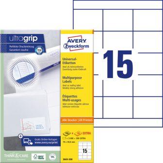 Avery Zweckform 3669-200 öntapadós etikett címke