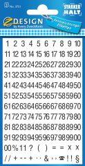 Avery Zweckform Z-Design No. 3721 fehér színű fólián öntapadó számok - fekete színben - kiszerelés: 2 ív / csomag (Avery Z-Design 3721)