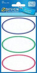 Avery Zweckform Z-Design No. 3742 papír matrica befőttes üvegre - színes kerettel - kiszerelés: 3 ív / csomag (Avery Z-Design 3742)