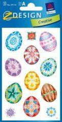 Avery Zweckform Z-Design No. 39110 papír matrica húsvéti motívummal - színes tojások - 3 ív / csomag (Avery Z-Design 39110)