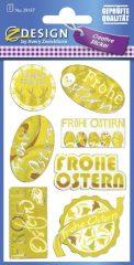 Avery Zweckform Z-Design No. 39157 öntapadó húsvéti fólia matrica - Frohe Ostern felirattal - kiszerelés: 1 ív / csomag (Avery Z-Design 39157)