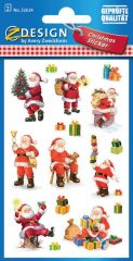 Avery Zweckform Z-Design No. 52624 karácsonyi csillogó papír matrica - ajándékozó Mikulás mintával - kiszerelés: 2 ív / csomag (Avery Z-Design 52624)