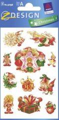 Avery Zweckform Z-Design No. 52756 karácsonyi papír matrica - mókás manók mintával - kiszerelés: 3 ív / csomag (Avery Z-Design 52756)