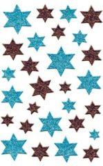Avery Zweckform Z-Design No. 52766 karácsonyi csillogó matrica - kék és piros színű csillagok mintával - kiszerelés: 1 ív / csomag (Avery Z-Design 52766)