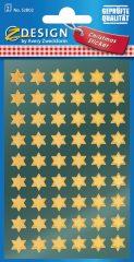 Avery Zweckform Z-Design No. 52802 magasfényű, öntapadó fólia matrica - arany színű csillagokkal - kiszerelés: 2 ív / csomag (Avery Z-Design 52802)