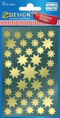Avery Zweckform Z-Design No. 52804 magasfényű, öntapadó fólia matrica - arany színű csillagokkal - kiszerelés: 2 ív / csomag (Avery Z-Design 52804)