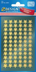 Avery Zweckform Z-Design No. 52805 magasfényű, öntapadó fólia matrica - arany színű csillagokkal - kiszerelés: 2 ív / csomag (Avery Z-Design 52805)