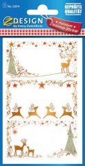 Avery Zweckform Z-Design No. 52814 prémium minőségű, öntapadó papír matrica - ajándékkísérő karácsonyi motívumokkal - kiszerelés: 1 ív / csomag (Avery Z-Design 52814)