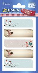 Avery Zweckform Z-Design No. 52816 öntapadó papír matrica - különféle karácsonyi ajándékkísérő motívumokkal - kiszerelés: 2 ív / csomag (Avery Z-Design 52816)