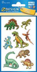 Avery Zweckform Z-Design No. 53145 öntapadó papír matrica - dinoszauruszok képekkel - kiszerelés: 3 ív / csomag (Avery Z-Design 53145)