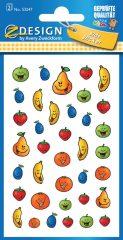 Avery Zweckform Z-Design No. 53247 öntapadó papír matrica - vidám gyümölcsök képekkel - kiszerelés: 3 ív / csomag (Avery Z-Design 53247)