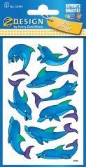 Avery Zweckform Z-Design No. 53444 csillogó papír matrica delfin motívumokkal - 2 ív / csomag (Avery Z-Design 53444)