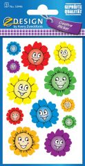 Avery Zweckform Z-Design No. 53446 csillogó, öntapadó papír matrica - nevető virágok mintával - kiszerelés: 2 ív / csomag (Avery Z-Design 53446)