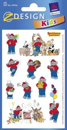 Avery Zweckform Z-Design No. 54426 öntapadó papír matrica - Benjámin elefánt mintákkal - kiszerelés: 2 ív / csomag (Avery Z-Design 54426)